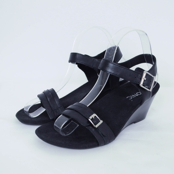 c80eb55c084 Vionic Noble Laurie Wedge Sandals Leather Comfort